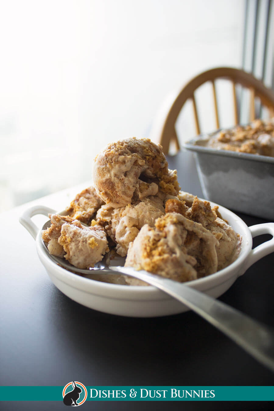 Homemade Apple Crisp Ice Cream
