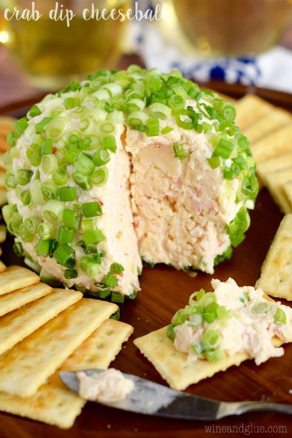 Crab Dip Cheeseball from Wine & Glue
