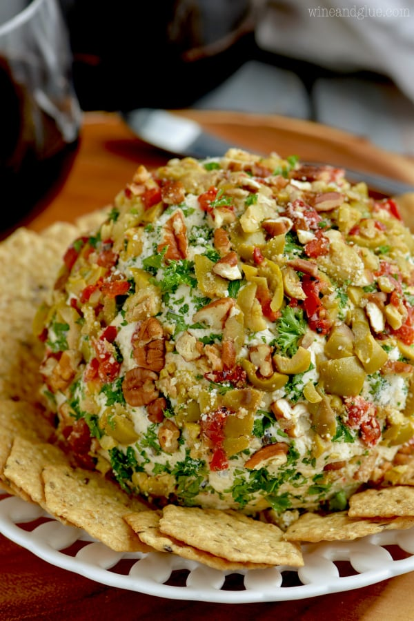 Olive Cheese ball from Wine & Glue