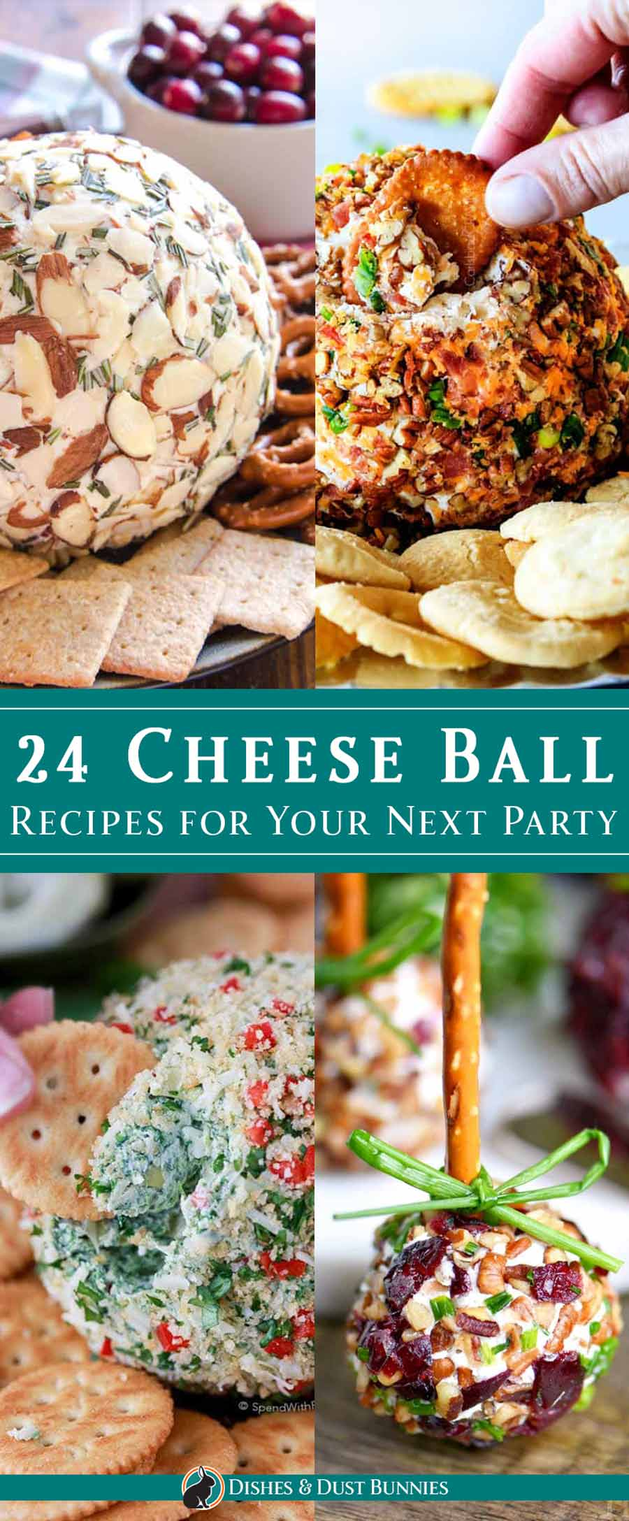 24 Cheese Ball Recipes for Your Next Party via @mvdustbunnies