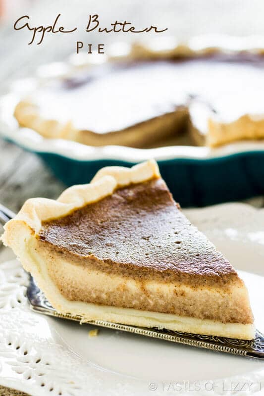 Apple Butter Pie from Tastes of Lizzy T