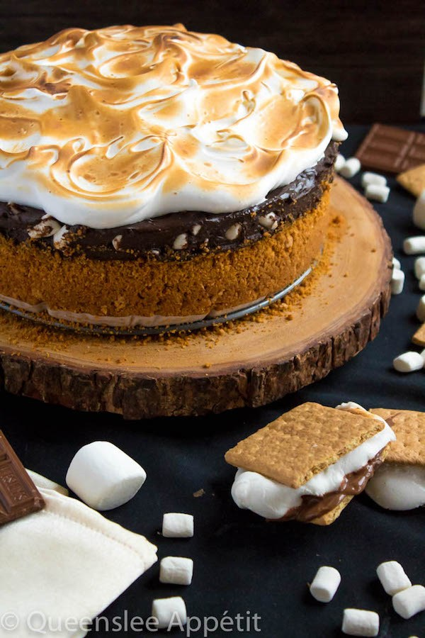 S'mores Mississippi Mud Pie from Queenslee Appetit