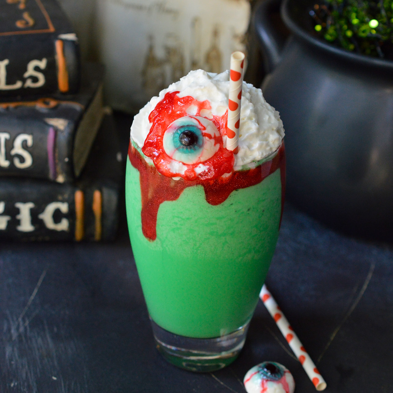 Eye of Toad Halloween Milkshake Recipe from Wonky Wonderful