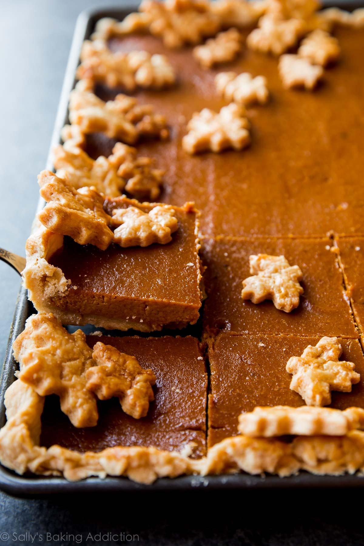 Pumpkin Slab Pie from Sally's Baking Addiction