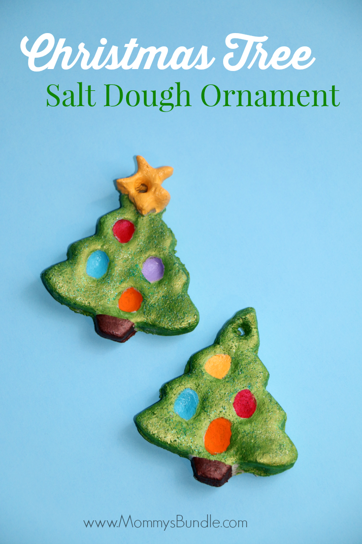 Christmas Tree Salt Dough Ornament from Mommy's Bundle