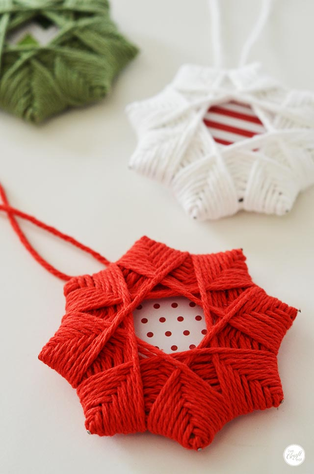 Homemade Christmas Tree Star Ornaments from Live Craft Eat