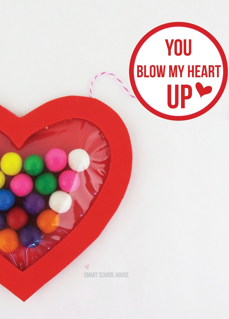 Blow My Heart Up - Bubble Gum Valentine Craft from Smart School House