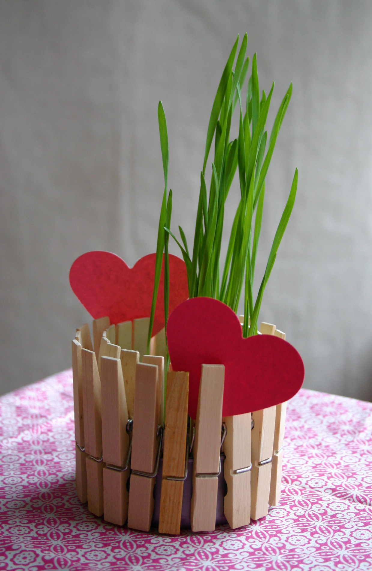 Clothespin Planter from Family Chic