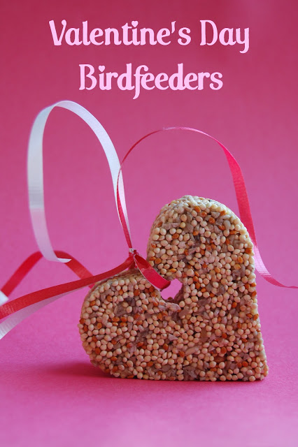 Love Birds: Valentine's Day Bird Feeders from Wine and Glue