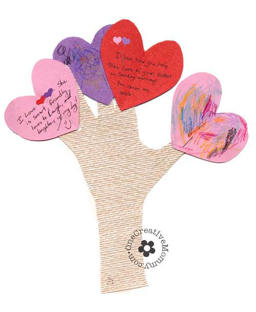 Love Tree Valentine Craft from One Creative Mommy