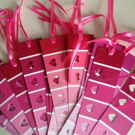 Valentine's Day Bookmarks from Lu Bird Baby