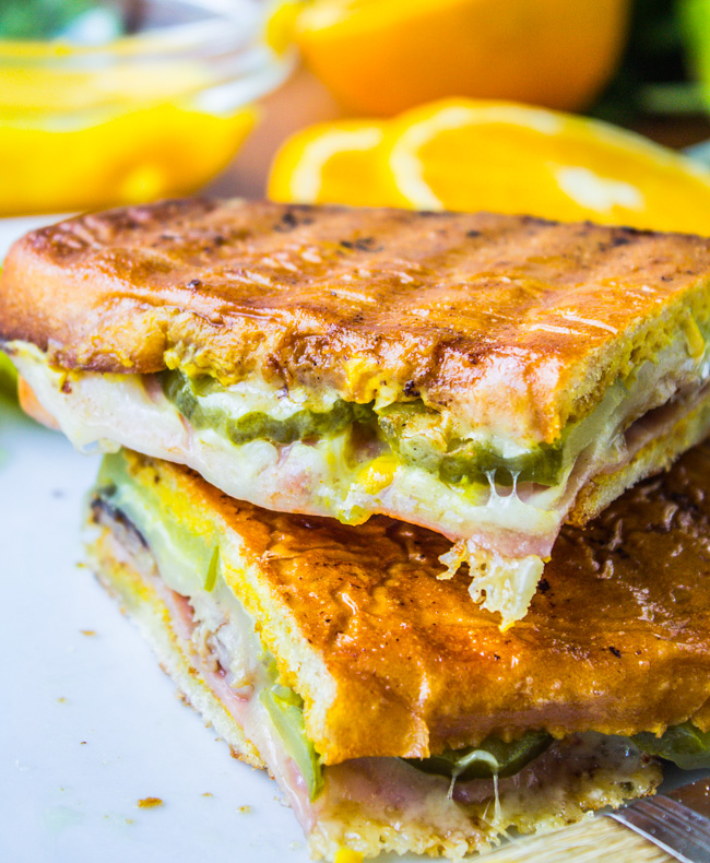 Cuban Sandwiches (Cubanos) from The Food Charlatan
