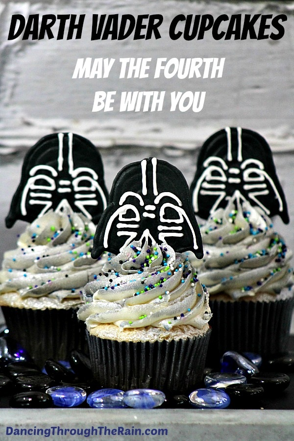 Darth Vader Cupcakes from Dancing Through the Rain