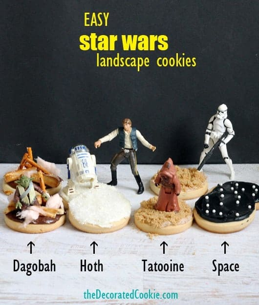 Star Wars Landscape Cookies from The Decorated Cookie