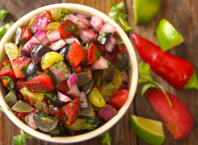 Grape-Plum Summer Salsa Recipe from Cooking on the Weekends