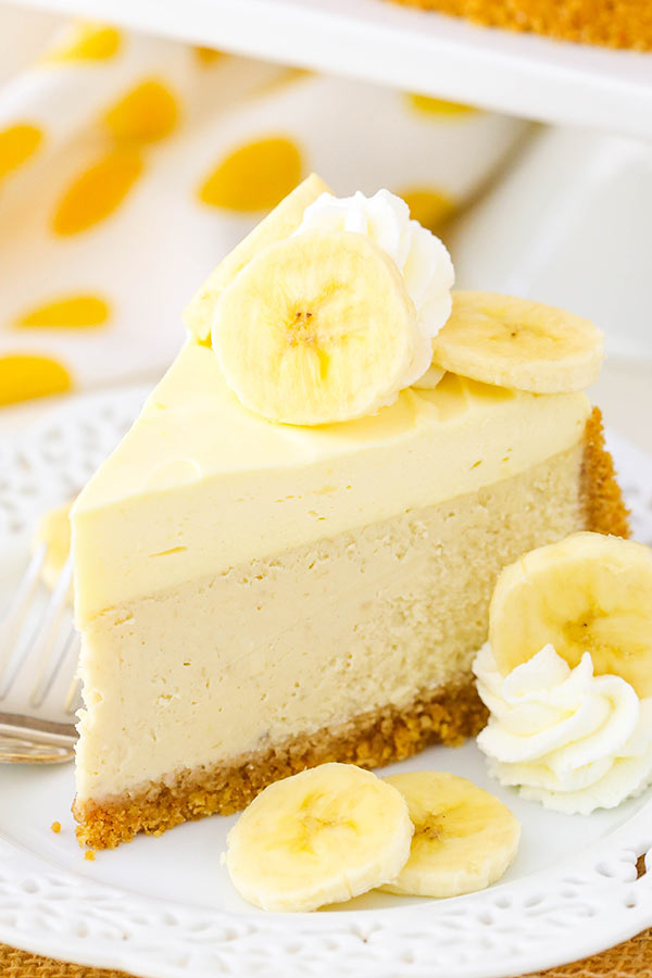 Banana Cream Cheesecake from Life, Love and Sugar