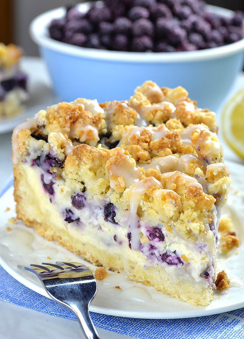 Blueberry Cheesecake Crumb Cake from OMG Chocolate Desserts