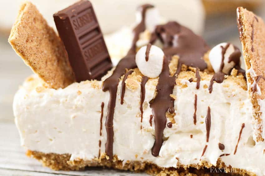 No-Bake S'Mores Cheesecake from Fantabulosity