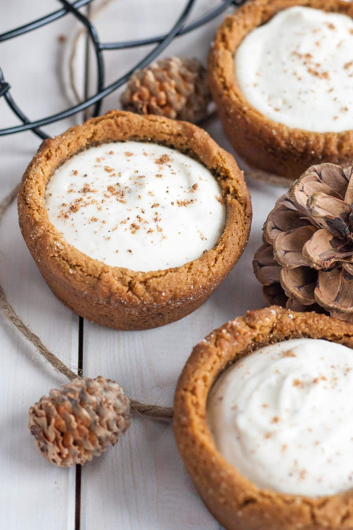 Eggnog Cheesecake Cookie Cups from Liv for Cake