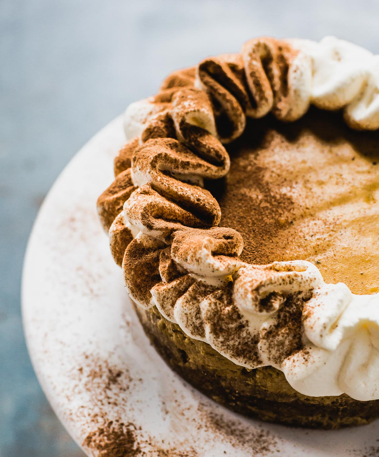 Instant Pot Cardamom Pumpkin Cheesecake from Heartbeet Kitchen