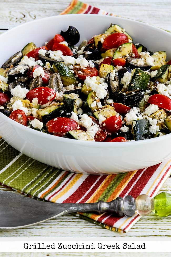 Grilled Zucchini Greek Salad from Kalyns Kitchen
