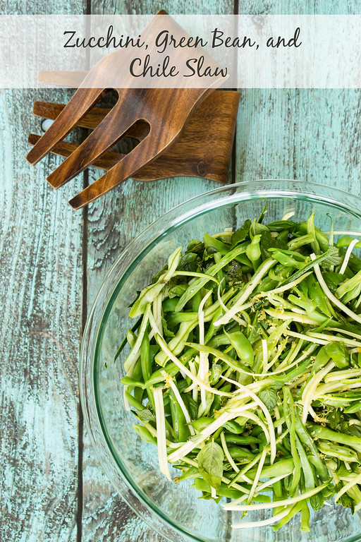 Zucchini, Green Bean and Chile Slaw from Sidewalk Shoes