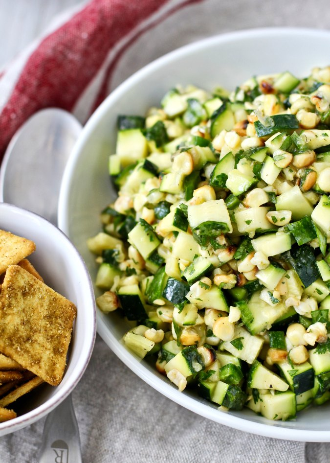 Roasted Corn and Zucchini Saladfrom Karen's Kitchen Stories