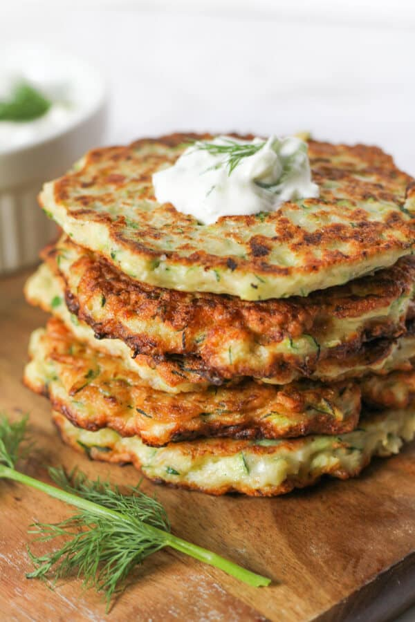 Zucchini Fritter with Feta and Dill from Cook It Real Good
