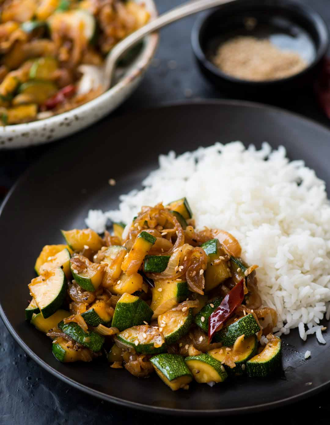 Zucchini Stir Fry from The Flavours of Kitchen