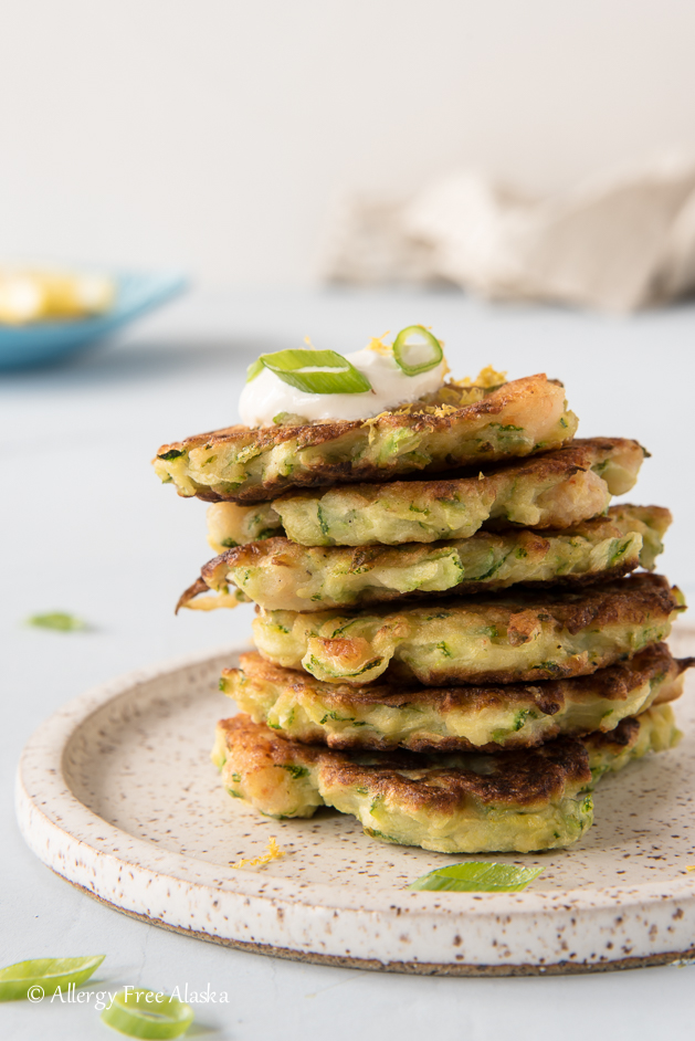 Gluten Free Zucchini Shrimp Fritters from Allergy Free Alaska