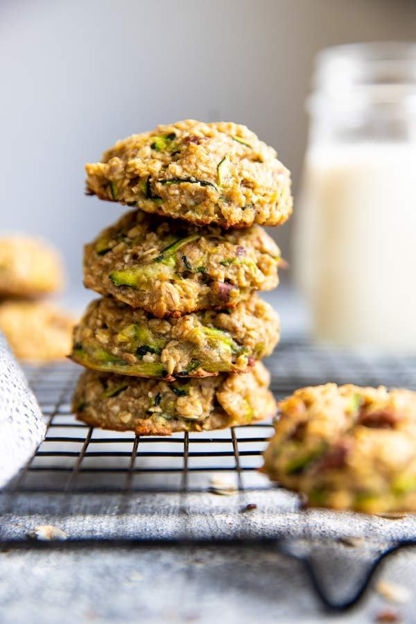 Zucchini Bread Breakfast Cookies from Savory Nothings