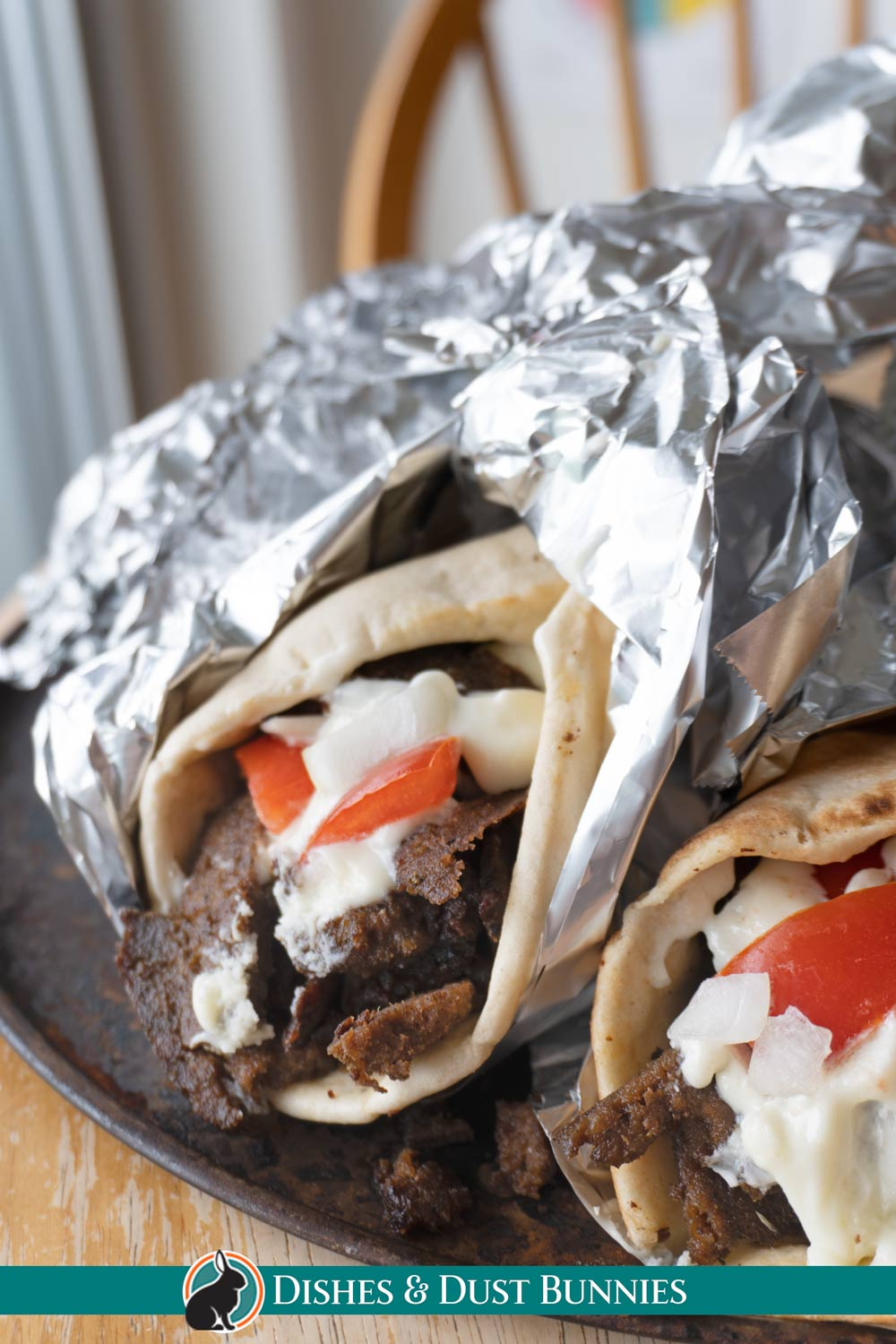 Donairs with Dona Sauce on them