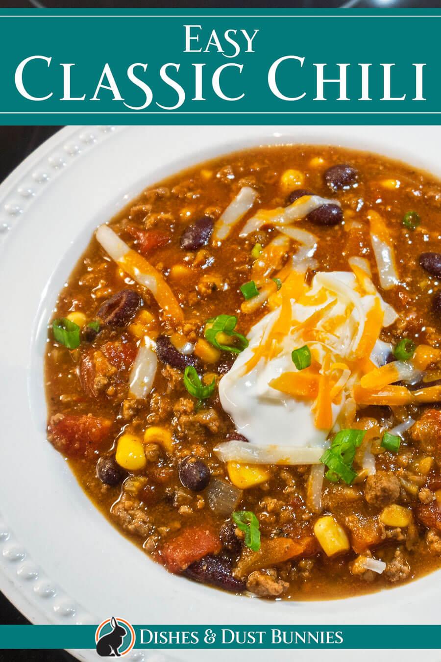 Easy Classic Homemade Chili
