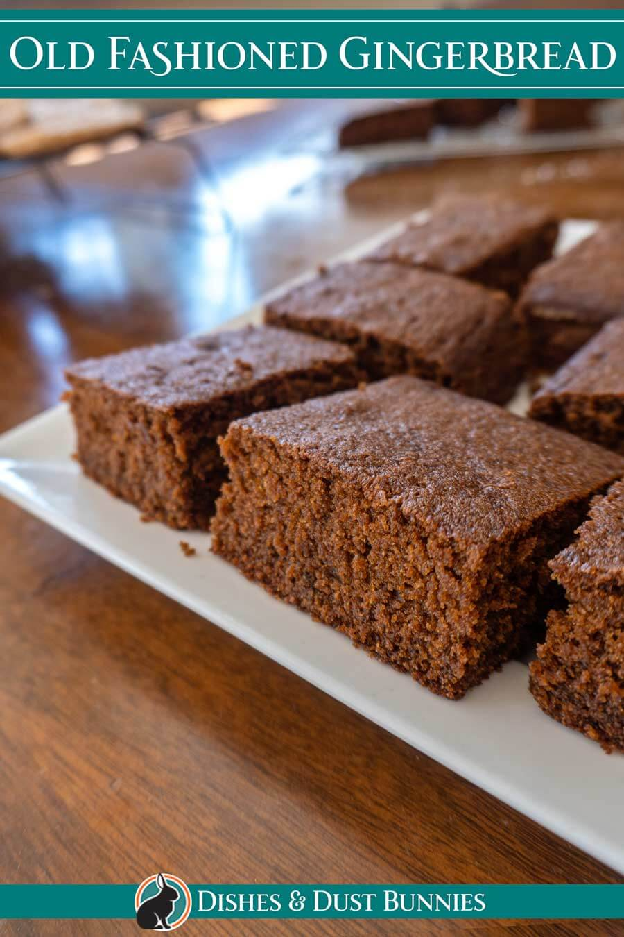 This classic old-fashioned gingerbread is a treasured old family recipe from my Great Grammie Alice. It's soft, moist and perfectly spiced with ginger, cinnamon, and molasses. This traditional gingerbread cake is absolutely delicious, plus quick and easy to make. Excellent for Christmas, Thanksgiving or any time of the year, you're going to fall in love with this recipe! ❤️